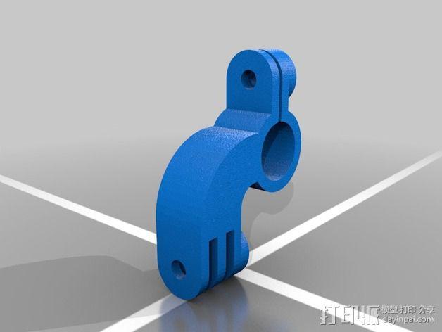808 Keychain 相机适配器 3D模型  图2