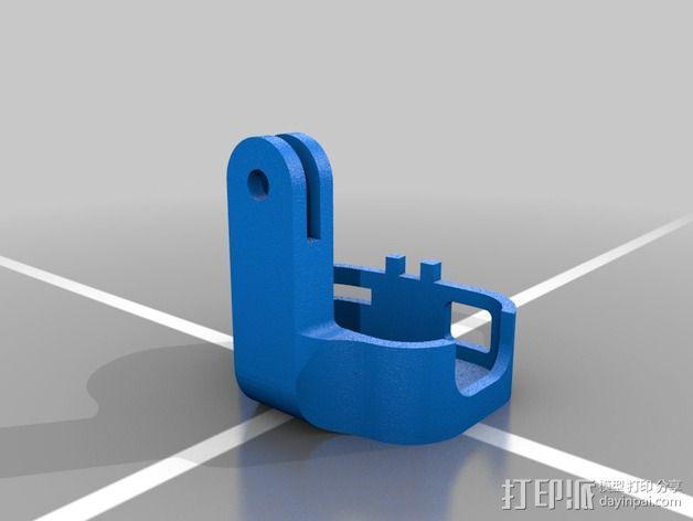 808 Keychain 相机适配器 3D模型  图3