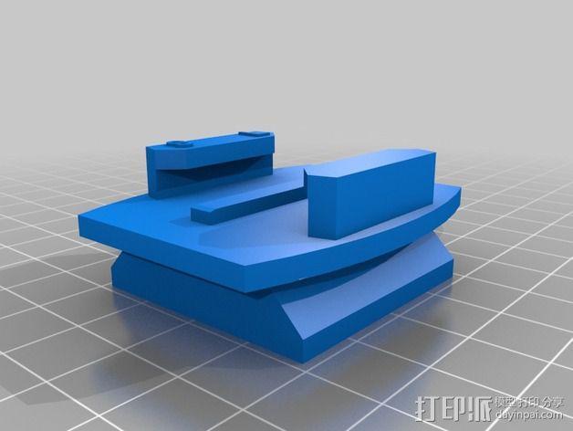 GoPro 三脚架适配器 3D模型  图2