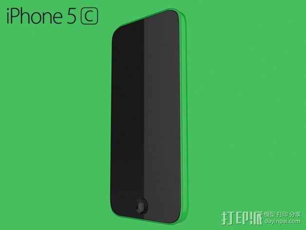 iPhone 5C手机壳 3D模型  图1