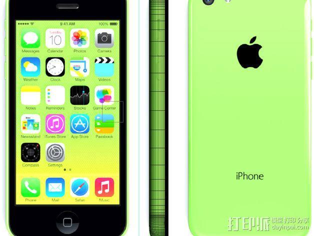 iPhone 5C手机壳 3D模型  图4