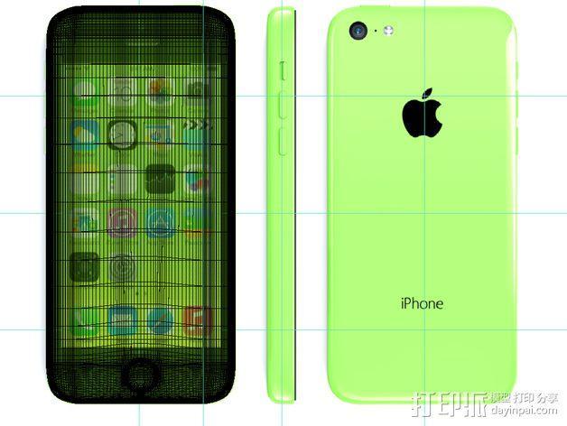 iPhone 5C手机壳 3D模型  图5