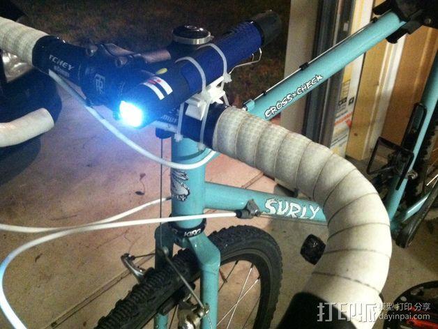 自行车灯支架 3D模型  图1