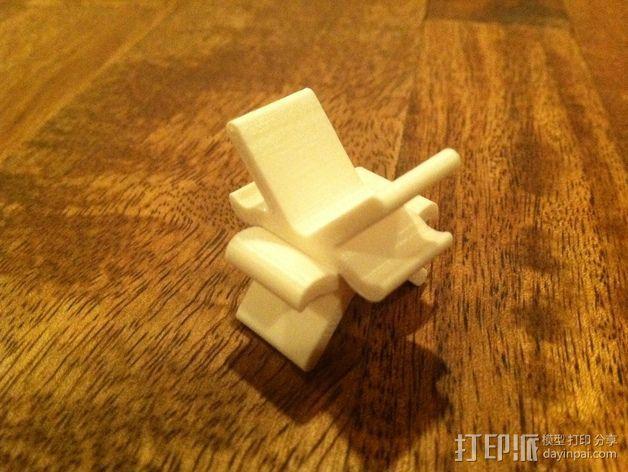 自行车灯支架 3D模型  图4