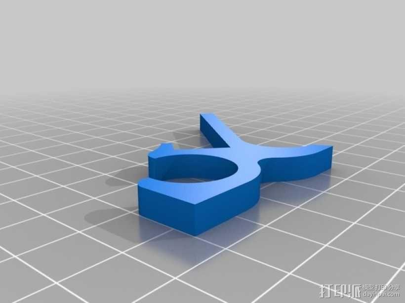 苹果无线键盘适配器 3D模型  图2