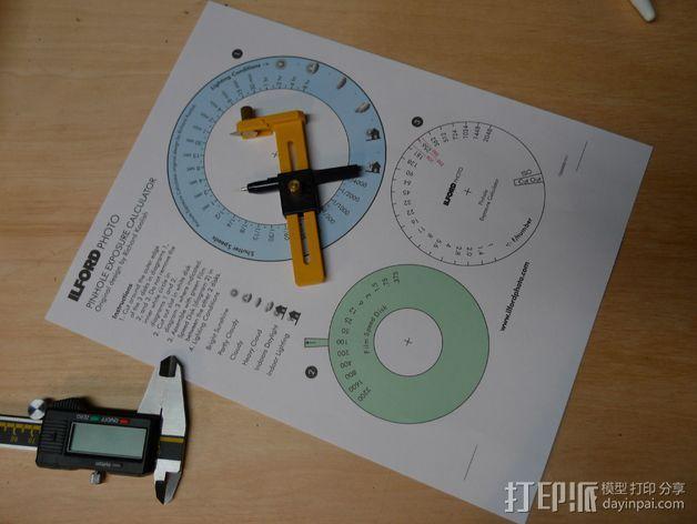 纸张针孔计算器 3D模型  图3