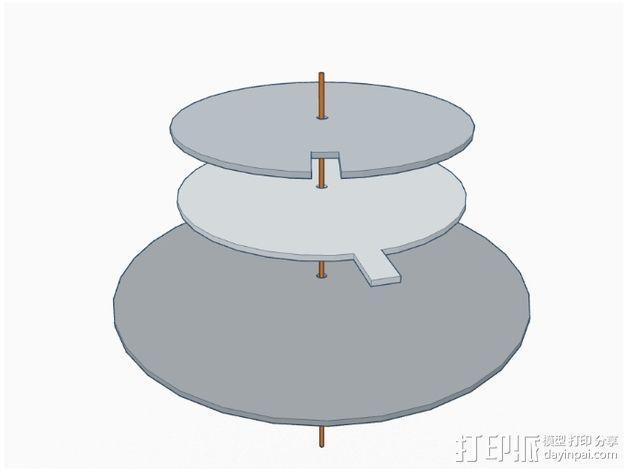 纸张针孔计算器 3D模型  图6