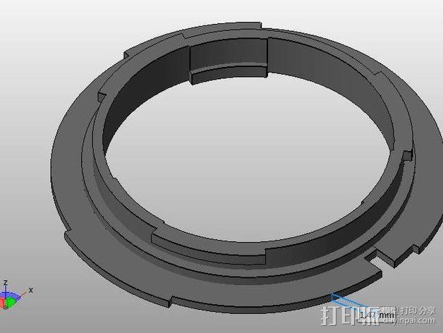 Canon EOS 镜头 3D模型  图2