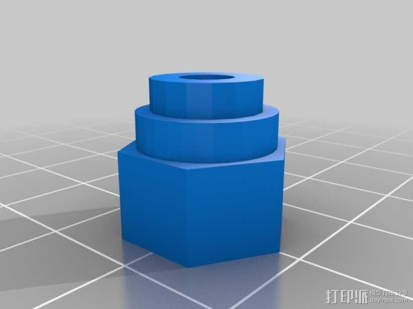 GoPro 螺丝 3D模型  图2