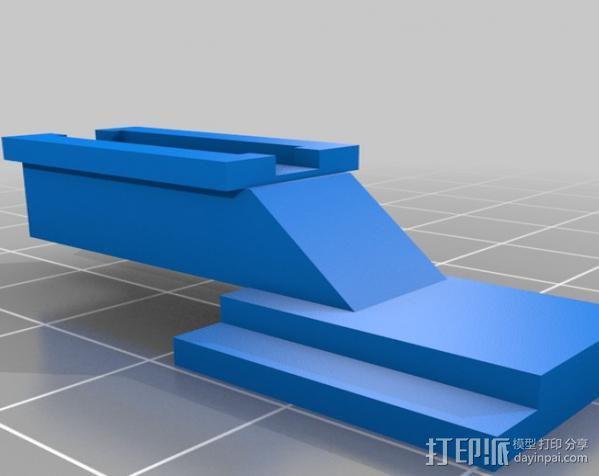 单反相机适配器 3D模型  图2