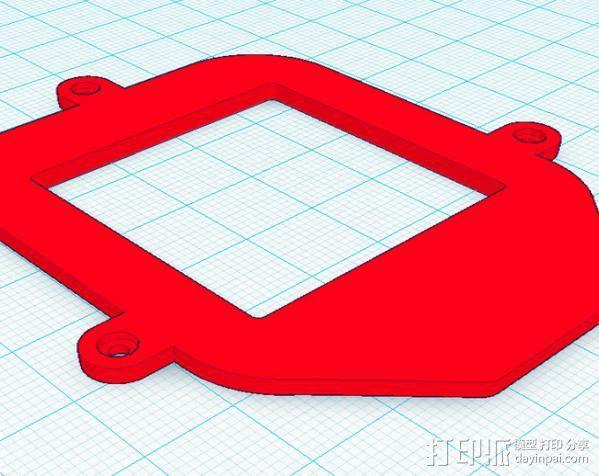 Fostex T50RP框架 3D模型  图3
