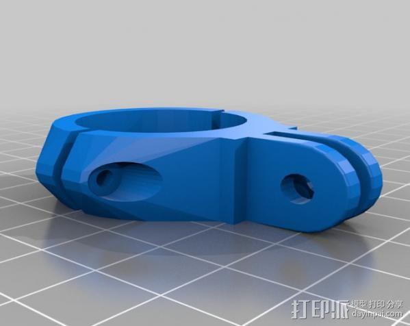 Go Pro适配器 3D模型  图1