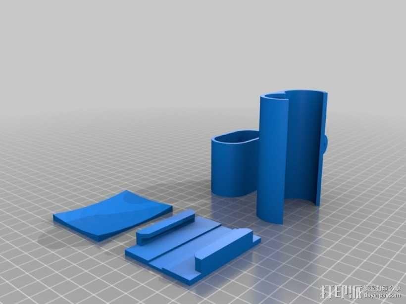 Sony Action Cam适配器 3D模型  图1