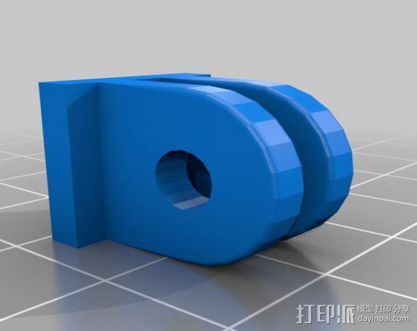 Go Pro 双配件 3D模型  图1