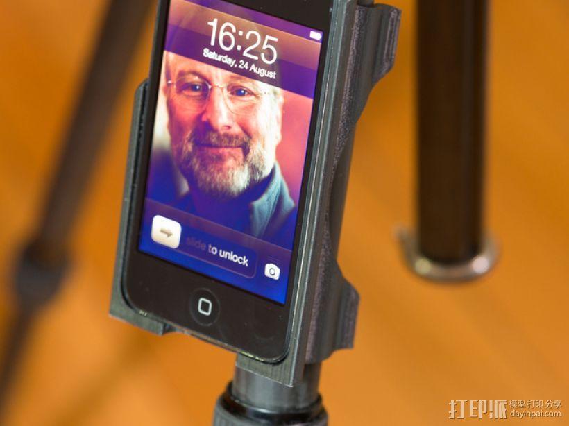 iPod touch三脚架 3D模型  图1
