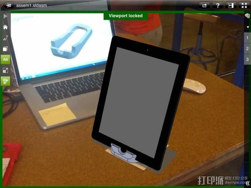 iPad 2手机座 3D模型  图1
