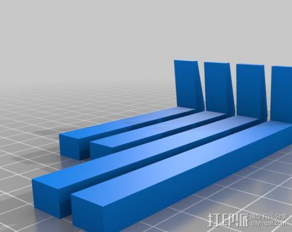 平板夹 3D模型  图2