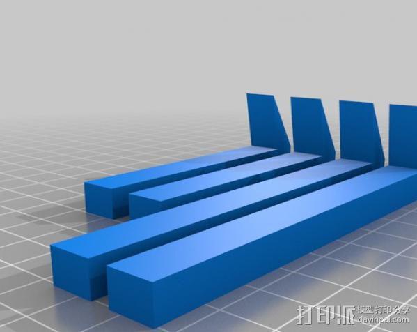 平板夹 3D模型  图4