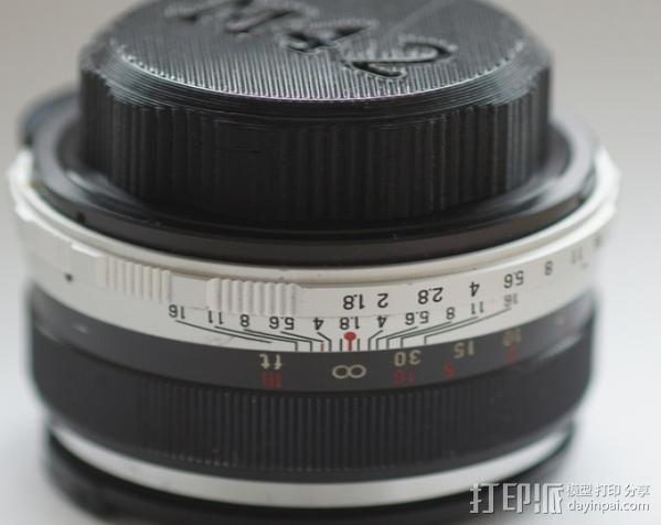 M42 镜头盖 3D模型  图1