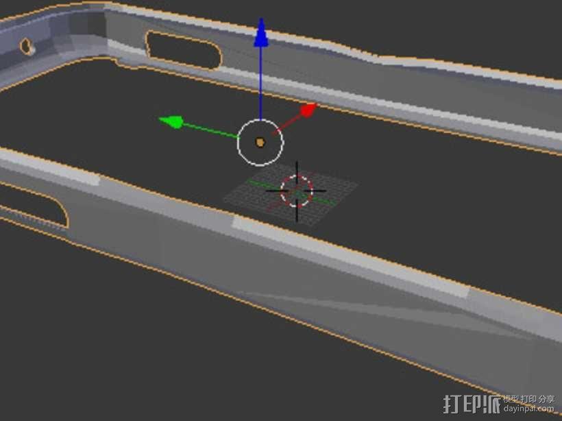nexus 4手机壳 3D模型  图3