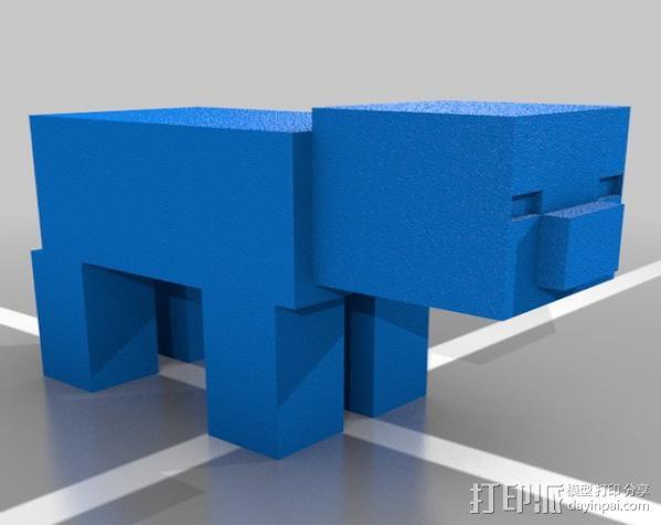 Minecraft Pig摆件 3D模型  图1