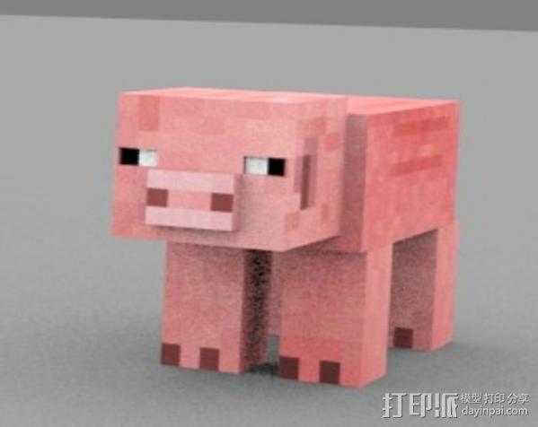 Minecraft Pig摆件 3D模型  图2