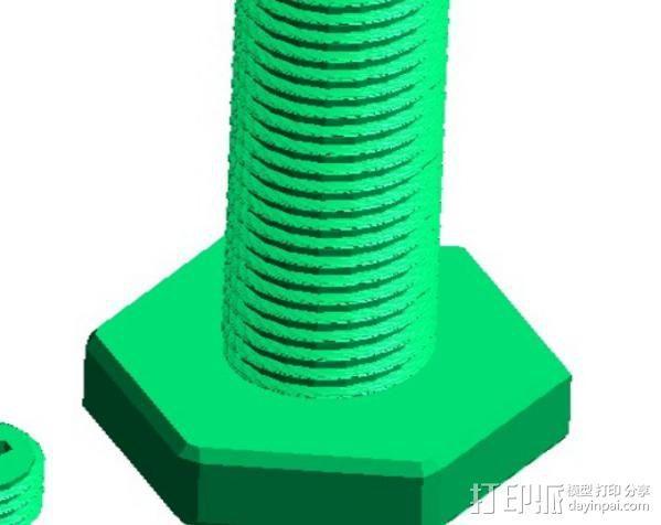 螺丝 3D模型  图2