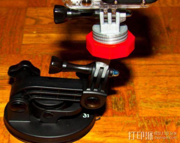 GoPro球形适配器 3D模型  图2
