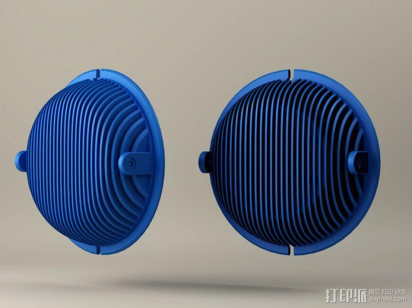 拜耳动态替换耳机罩 3D模型  图1