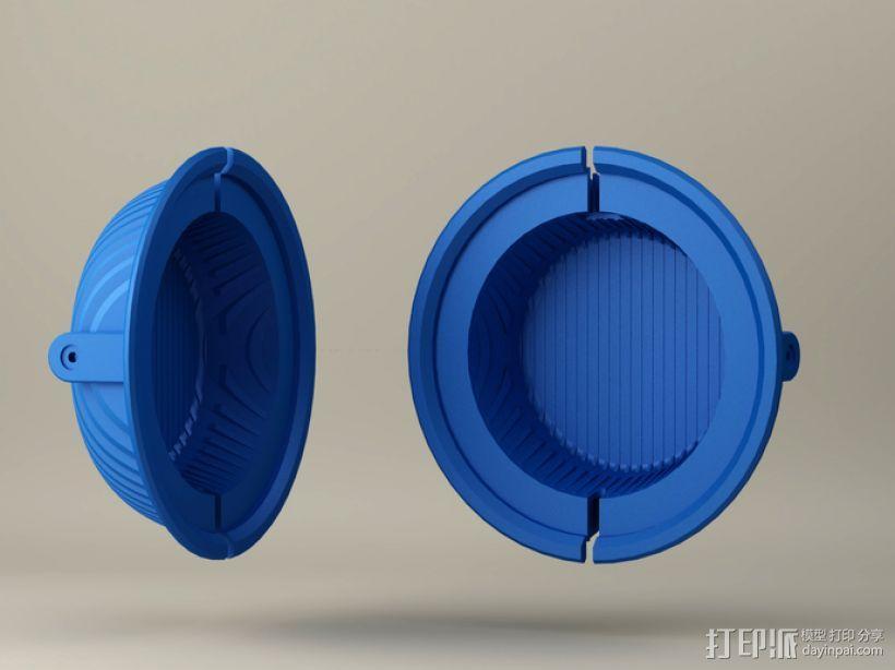 拜耳动态替换耳机罩 3D模型  图2