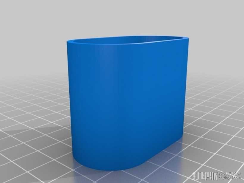 镜头保护盖 3D模型  图1
