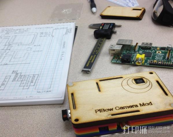 Raspberry Pi 相机模型 3D模型  图1