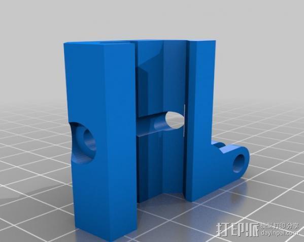 GoPro 适配器4 3D模型  图2