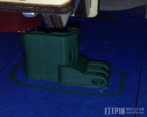 GoPro 适配器4 3D模型  图1