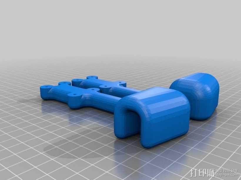 Nexus 7车载手机座 3D模型  图3
