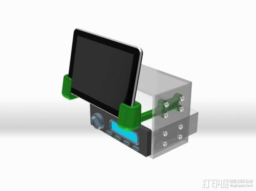 Nexus 7车载手机座 3D模型  图2