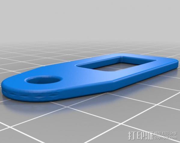提包锁 3D模型  图4