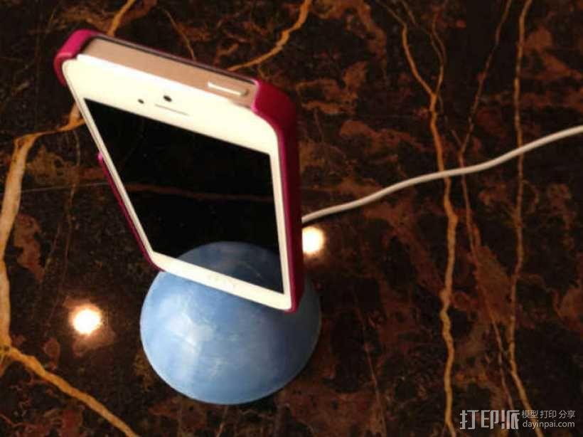 iPhone 5球形手机座 3D模型  图1