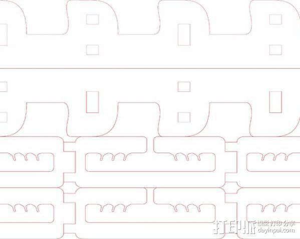电缆管理器 3D模型  图3