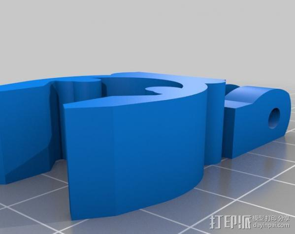 GoPro 适配器 3D模型  图2