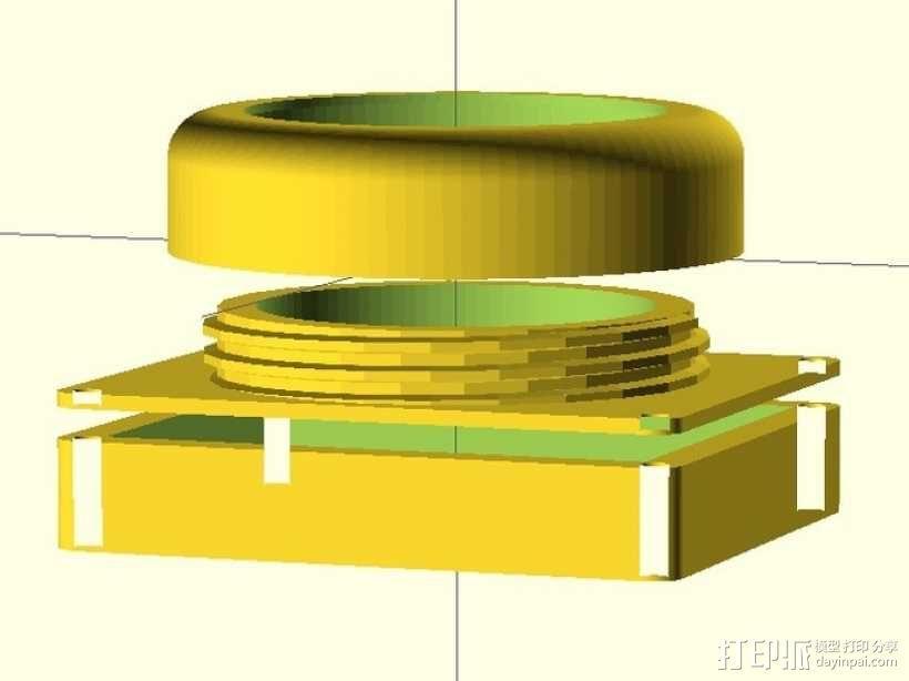 镜头盖 3D模型  图5