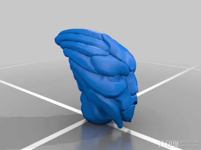 Mass Effect Turian摆件 3D模型  图1