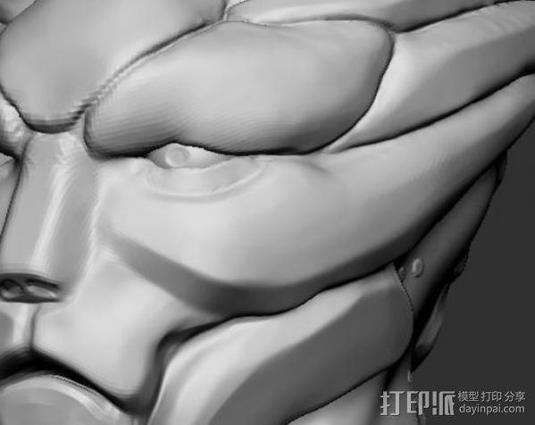 Mass Effect Turian摆件 3D模型  图2