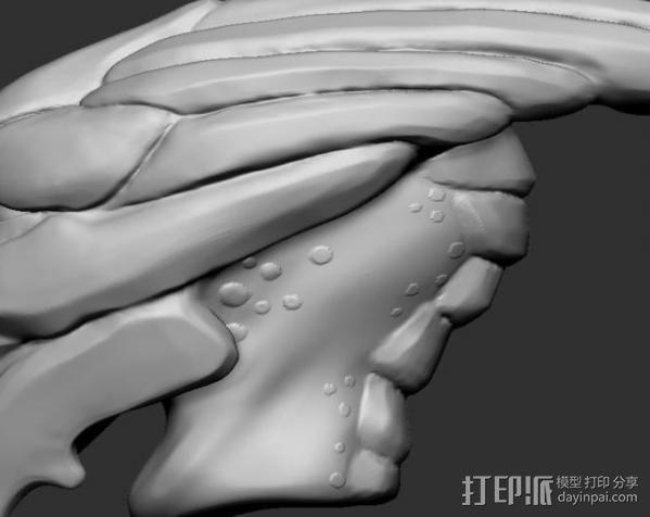 Mass Effect Turian摆件 3D模型  图4