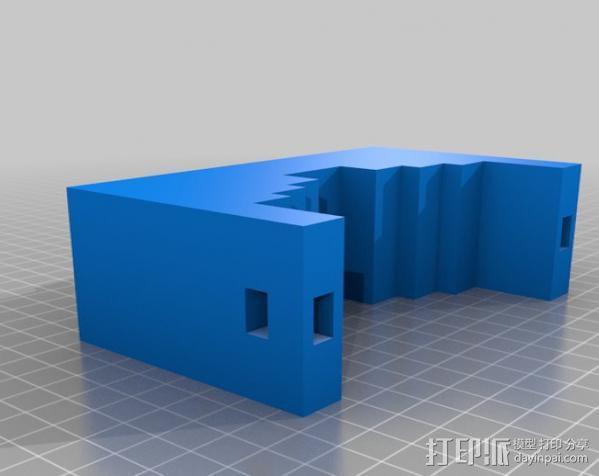 GoPro 适配器 3D模型  图3