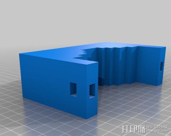 GoPro 适配器 3D模型  图4