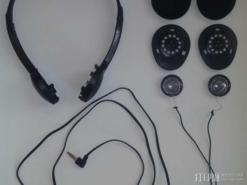 耳机扬声器 3D模型  图1