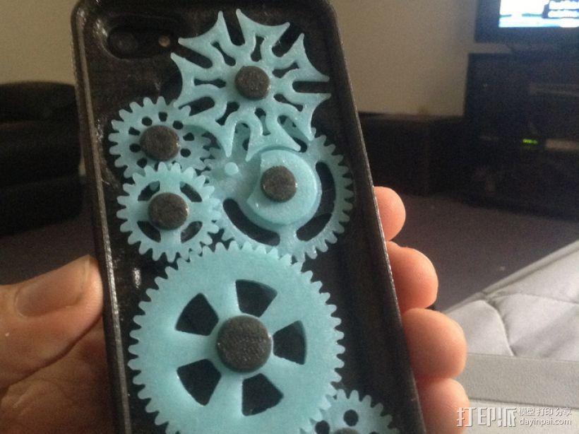 iPhone 5齿轮手机壳 3D模型  图1