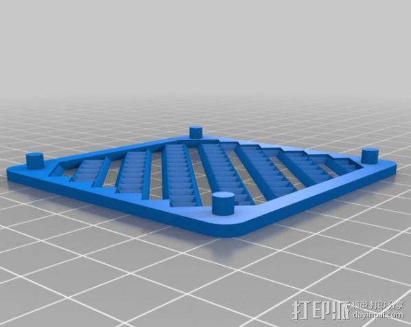 低音扬声器 3D模型  图2