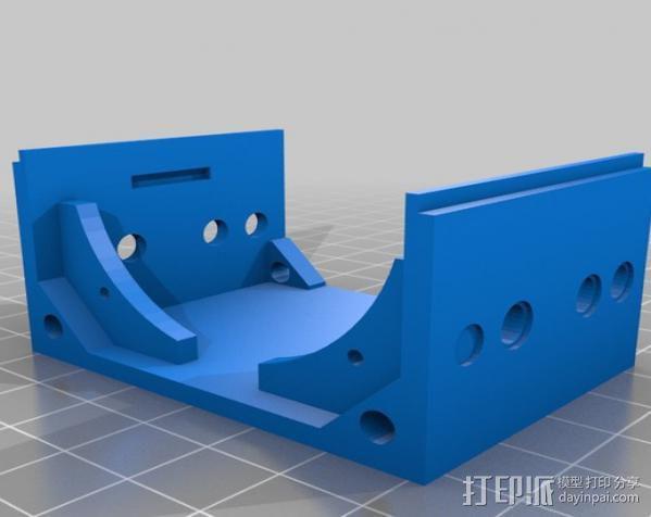 低音扬声器 3D模型  图3